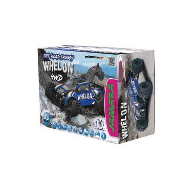 JAM-053355 R/c 4wd whelon rtr / 4wd / met kogellager / waterbestendig 2.4 ghz control 1:12 blauw Verpakking foto