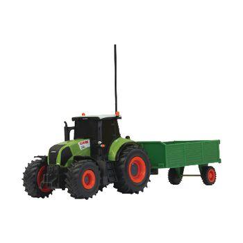 JAM-403702 R/c-tractor claas axion 850 met aanhanger rtr 1:28 groen