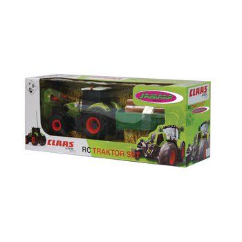 JAM-403702 R/c-tractor claas axion 850 met aanhanger rtr 1:28 groen Verpakking foto