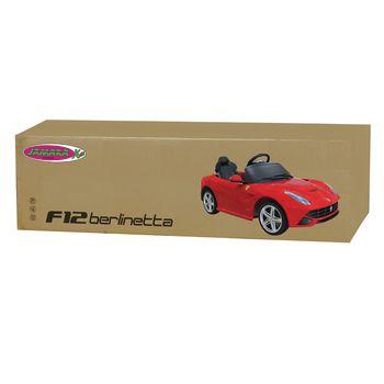 JAM-404765 R/c-rideon car ferrari f12 berlinetta 2+6-kanaals handgeschakeld / geluid / met verlichting 1:4 rood Verpakking foto