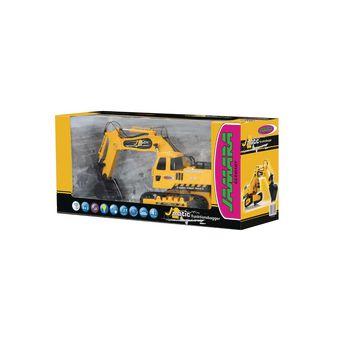 JAM-404920 R/c-graafmachine j-matic 4+3-kanaals rtr / geluid / met verlichting 2.4 ghz control 1:27 geel Verpakking foto