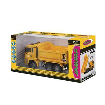 JAM-405002 R/c-dumptruck man 3+4-kanaals rtr / geluid / met verlichting / 4wd 2.4 ghz control 1:20 geel Verpakking foto