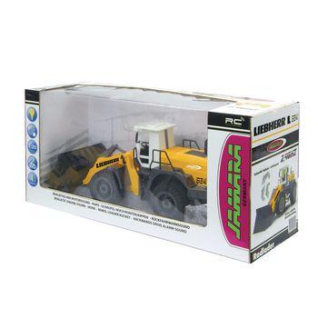 JAM-405007 R/c-wiellader liebherr 3+4-kanaals rtr / geluid / met verlichting / 4wd 2.4 ghz control 1:20 geel Verpakking foto