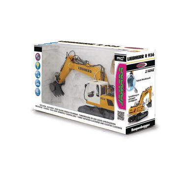 JAM-405060 R/c-graafmachine liebherr 6+2-kanaals geluid / met verlichting 2.4 ghz control 1:20 geel Verpakking foto