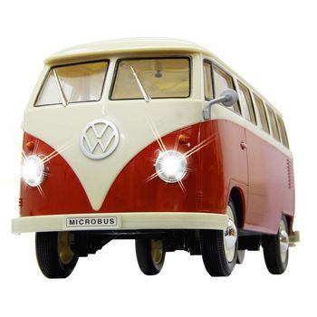 JAM-405119 R/c klassieke bus vw t1 1:16 rood In gebruik foto