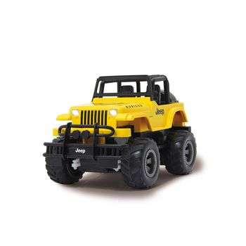 JAM-405124 R/c jeep wrangler rubicon 1:18 geel