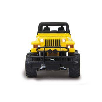 JAM-405124 R/c jeep wrangler rubicon 1:18 geel Product foto
