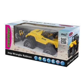 JAM-405124 R/c jeep wrangler rubicon 1:18 geel Verpakking foto