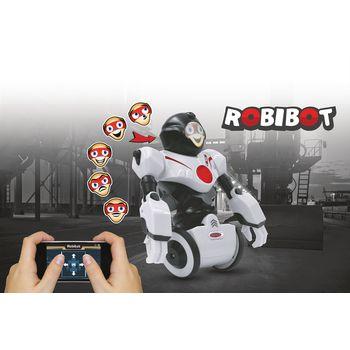JAM-410020 R/c-robot robibot 2+6-kanaals rtr / geluidsopname / met verlichting wit In gebruik foto