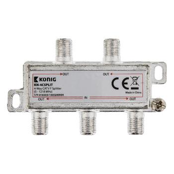 KN-4CSPLIT Catv-splitter 8.5 db / 5-1218 mhz - 4 uitgangen