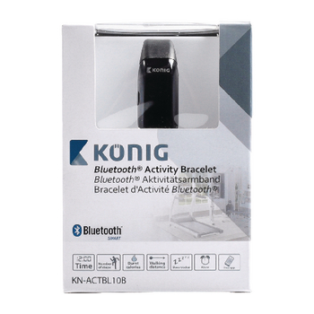 KN-ACTBL10B Bewegingsmeter armband bluetooth 4.0 zwart Verpakking foto