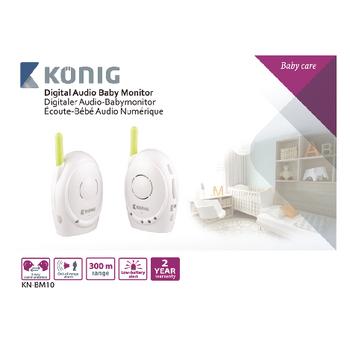 KN-BM10 Babyfoon audio 2.4 ghz wit/groen Verpakking foto