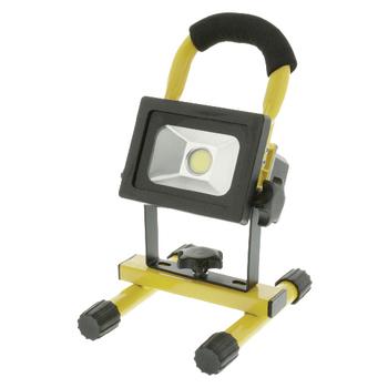 KNLEDFLMB10W Mobiele led floodlight 10 w 700 lm zwart / geel