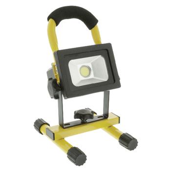 KNLEDFLMB10W Mobiele led floodlight 10 w 700 lm zwart / geel Product foto