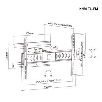 KNM-TLLFM Tv muurbeugel draai- en kantelbaar 37 - 70 \