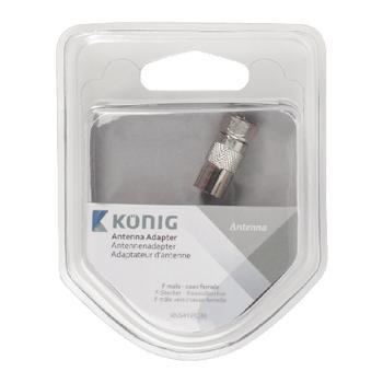 KNS41952M Coax-adapter f f-male - coax female (iec) zilver Verpakking foto