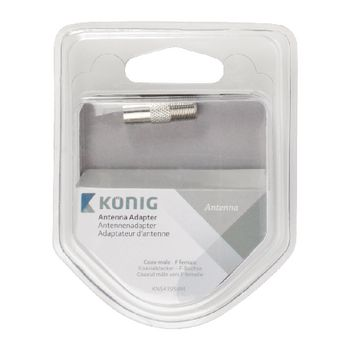 KNS41954M Coax-adapter f coax male (iec) - f-connector female zilver Verpakking foto