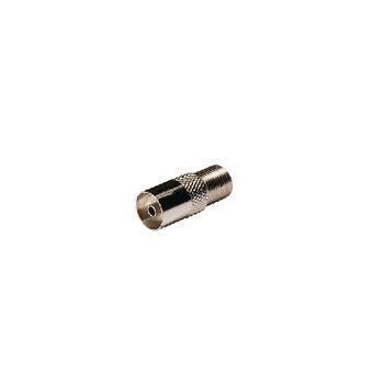 KNS41955M Coax-adapter f f-connector female - coax female (iec) zilver Product foto