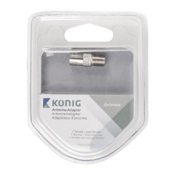 KNS41955M Coax-adapter f f-connector female - coax female (iec) zilver Verpakking foto