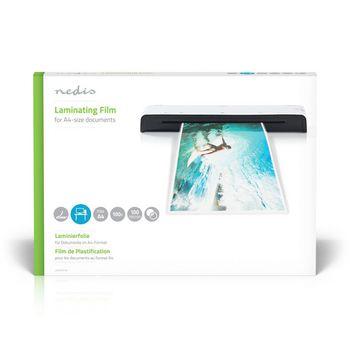 LAMIA4AT100 Lamineerhoes | a4 | dikte: 100 um | verpakt per: 100 stuks | kunststof | transparant Verpakking foto