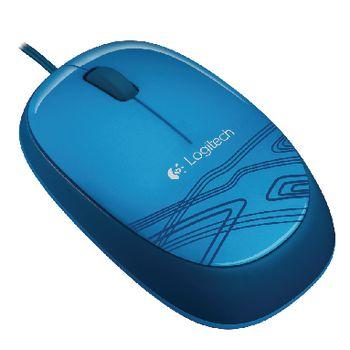 LGT-M105BU Bedrade muis bureaumodel 3 knoppen blauw Product foto