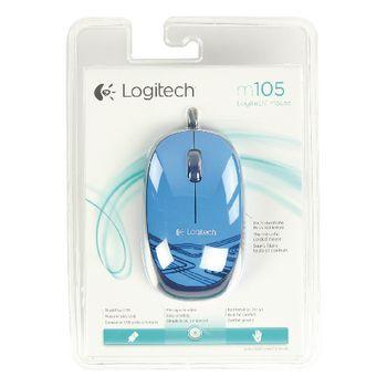 LGT-M105BU Bedrade muis bureaumodel 3 knoppen blauw Verpakking foto