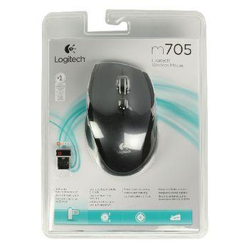LGT-M705S Draadloze muis bureaumodel 5 knoppen zilver Verpakking foto
