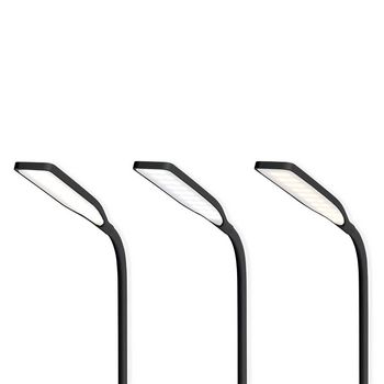 LTLGQ3M1BK Led-tafellamp met touch-control | draadloze qi oplader | 1,0 a | 5 w | zwart In gebruik foto