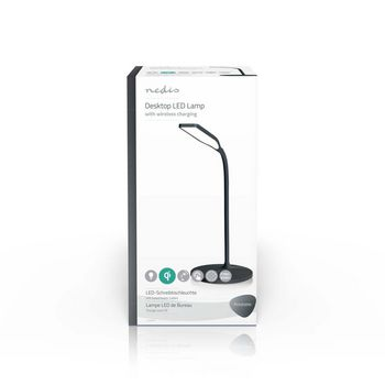 LTLGQ3M1BK Led-tafellamp met touch-control | draadloze qi oplader | 1,0 a | 5 w | zwart Verpakking foto