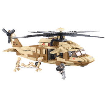 M38-B0509 Bouwstenen army serie utility-helikopter