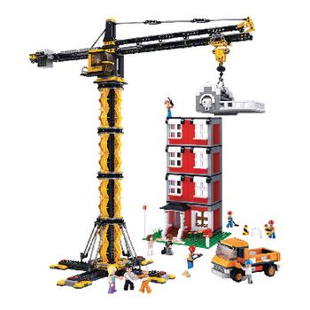 M38-B0555 Bouwstenen town serie torenkraan