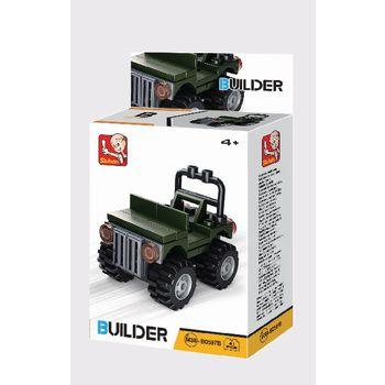 M38-B0597 Bouwstenen builder vehicles In gebruik foto
