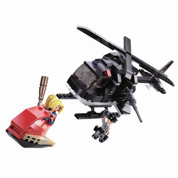 M38-B0651 Bouwstenen police serie me-helikopter