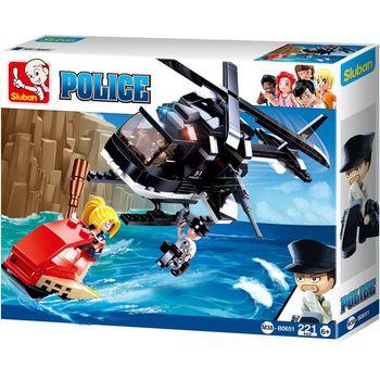 M38-B0651 Bouwstenen police serie me-helikopter Verpakking foto