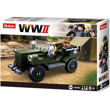 M38-B0682 Bouwstenen wwii serie gaz-67 allied light truck  foto