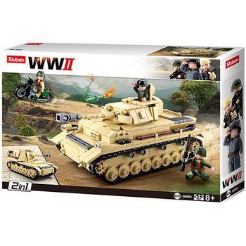 M38-B0693 Bouwstenen wwii serie panzer iv german tank  foto