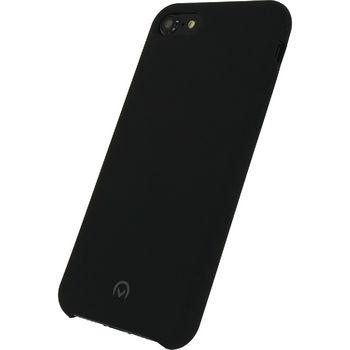 MOB-22739 Smartphone robuuste siliconen case apple iphone 7 / apple iphone 8 zwart In gebruik foto