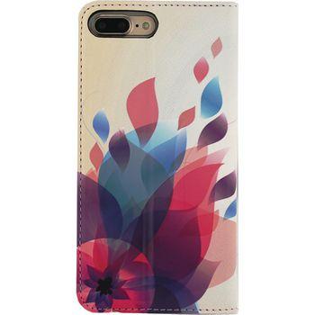 MOB-22794 Smartphone premium magnet book case apple iphone 7 plus bloemen Product foto