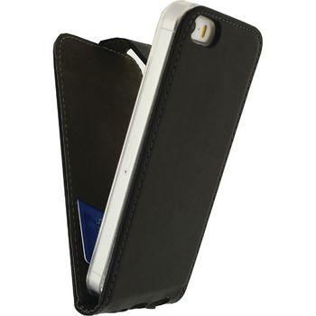 MOB-22868 Smartphone gelly flip case apple iphone 5 / 5s / se zwart In gebruik foto