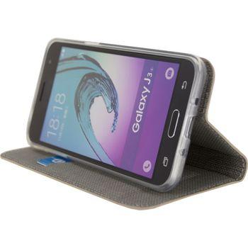 MOB-23179 Smartphone premium gelly book case samsung galaxy j3 2016 bruin In gebruik foto