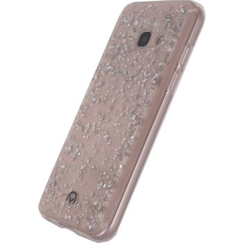 MOB-23251 Smartphone glitter case samsung galaxy a3 2017 zilver In gebruik foto