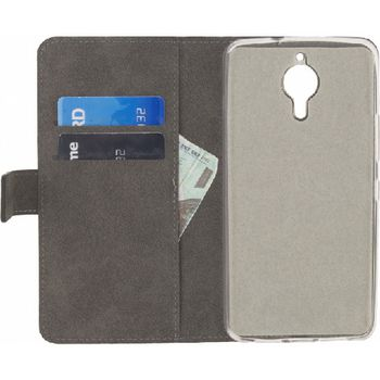 MOB-23288 Smartphone classic gelly wallet book case general mobile gm5 plus android one zwart In gebruik foto