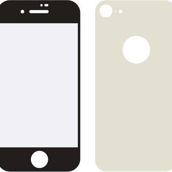 MOB-24035 Edge-to-edge voor- en achterzijde van glas screenprotector apple iphone 8