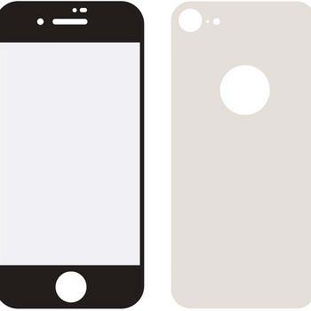 MOB-24036 Edge-to-edge voor- en achterzijde van glas screenprotector apple iphone 8