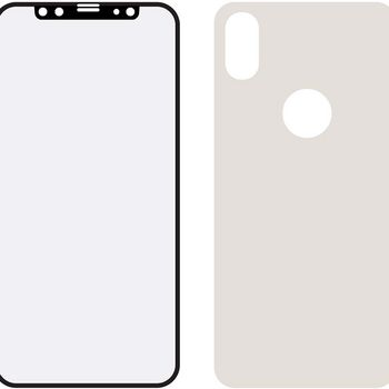 MOB-24037 Edge-to-edge voor- en achterzijde van glas screenprotector apple iphone x/xs