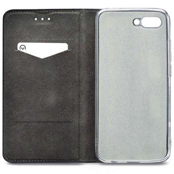 MOB-24407 Smartphone premium gelly book case honor 10 zwart In gebruik foto