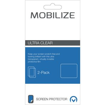 MOB-46421 Ultra-clear 2 st screenprotector motorola moto g4 Verpakking foto