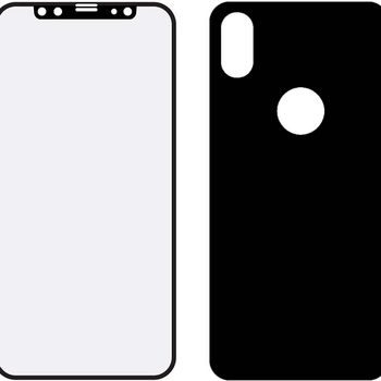 MOB-49642 Edge-to-edge voor- en achterzijde van glas screenprotector apple iphone x/xs