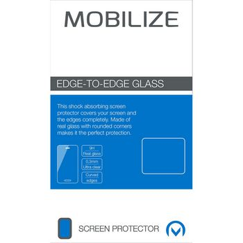 MOB-50325 Smartphone edge-to-edge glazen screenprotector lg v30 zwart