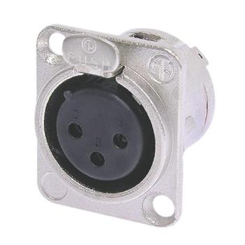 NTR-NC3FDL1 Connector xlr female metaal zilver